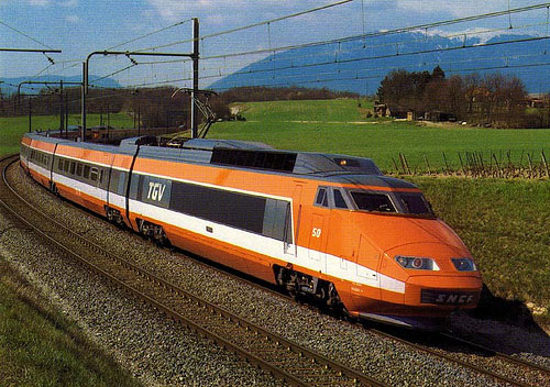 The first TGV train - http://farm4.static.flickr.com/3557/3403342149 ...